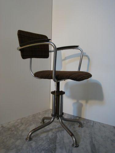 Originele Gispen chroombuis bureaustoel