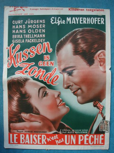 """Film poster """"Kussen Is Geen Zonde"""""""