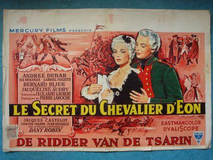 """Film poster """"Le secret du Chevalier d'Éon"""""""