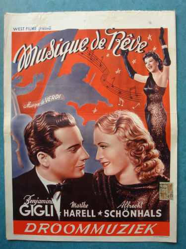 "Film poster ""Droommuziek"""