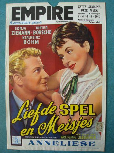 """Film poster """"Liefde Spel en Meisjes"""""""