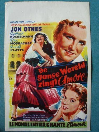 """Film poster """"De Ganse Wereld Zingt Amore"""""""