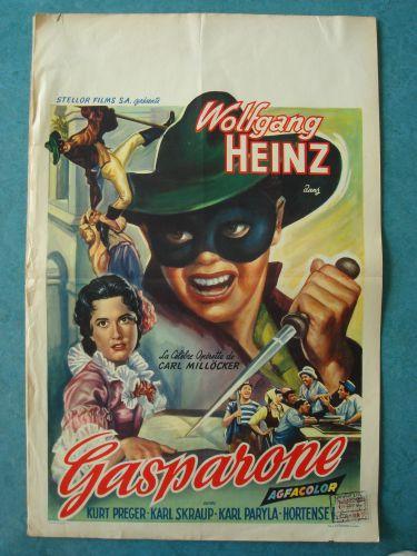 """Film poster """"Gasparone"""""""