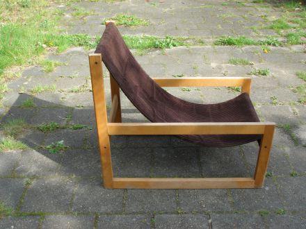 Beukenhouten fauteuil jaren 70-80