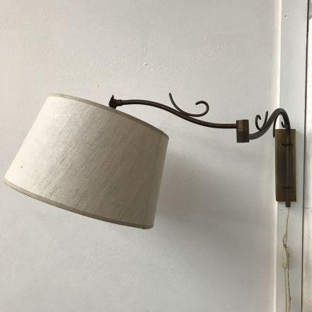 Wandlamp met linnen kap (dezaak)