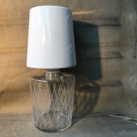Tafellamp met voet van kristal