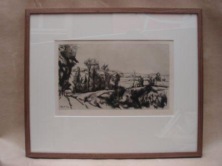 Druk van landschap Leopold Levy 1882-1966