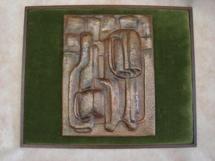 F. Archetti Reliëf in staal jaren 70/80