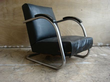 Chroombuis fauteuil 1930
