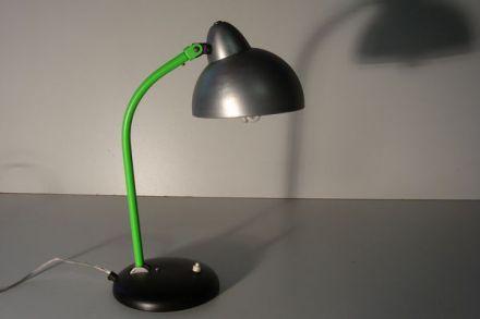 Bureaulamp zwart met groen gespoten