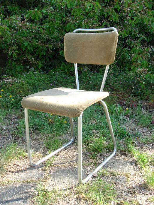 Chroombuis stoel zonder leuning