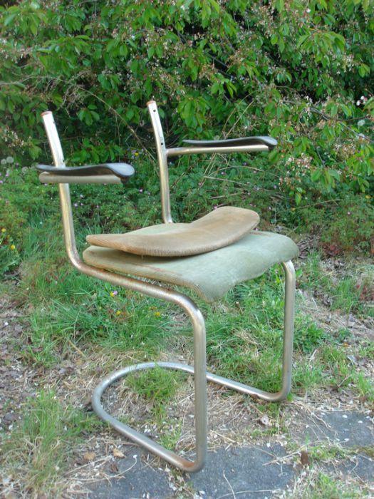 Chroombuis stoel met armleuning opknapper