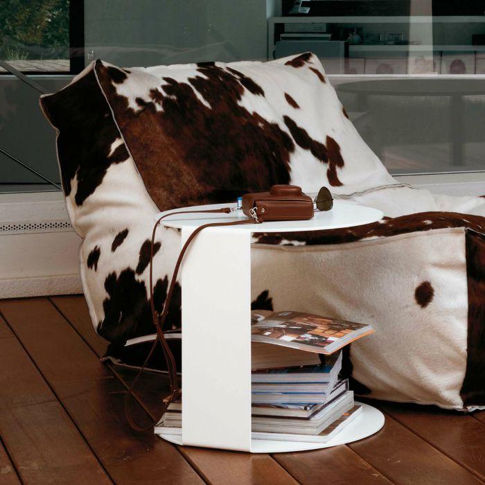 Verzelloni Blog rond laag wit in combinatie met Zoe in koeienvacht
