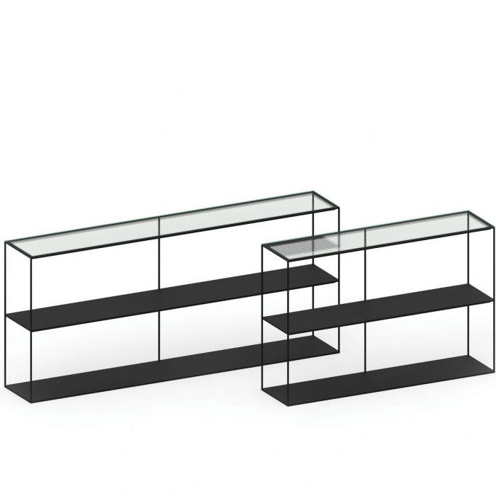 Zeus slim irony sideboard met glas (dezaak)