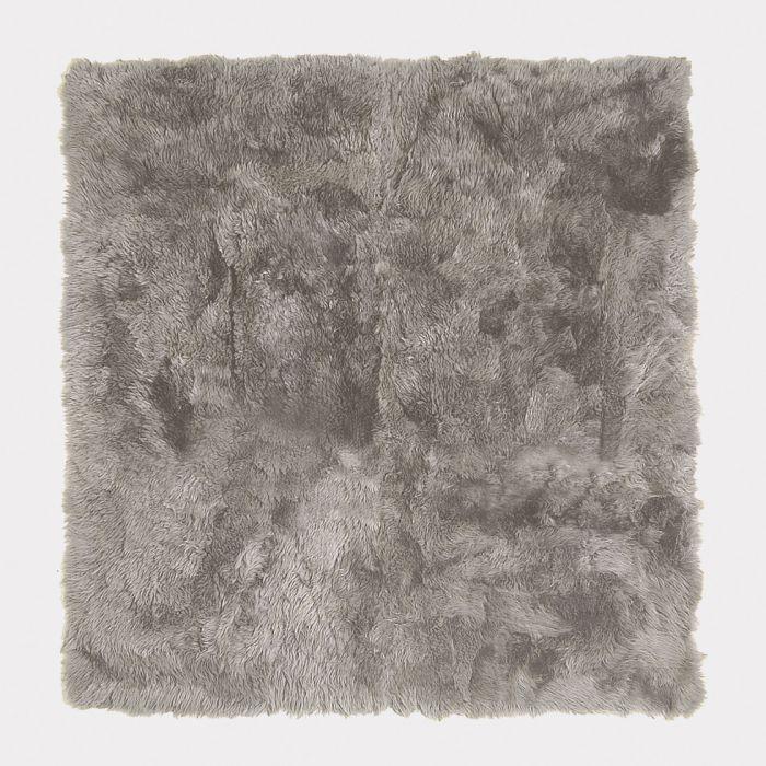 Lambert vloerkleed Taiga van lamsvel warm grijs