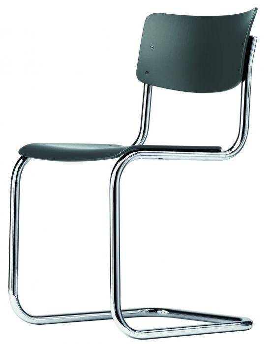 Thonet stoel S43 anthracite grey